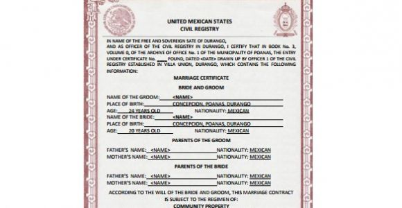 Mexican Marriage Certificate Translation Template Pdf Certificate Template 45 Free Printable Word Excel Pdf