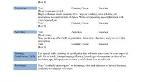 Microsoft Basic Resume Template Basic Resume Template