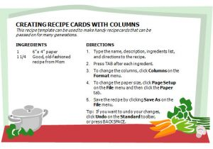 Microsoft Office Cookbook Template Creative Professional Cooking Recipe Card Template Word