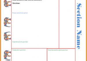 Microsoft Office Cookbook Template Free Cookbook Templates Authorization Letter Pdf