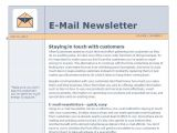 Microsoft Office Email Newsletter Templates Email Newsletter Template Outlook Email Newsletter Template