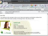 Microsoft Outlook Email Signature Template 11 Outlook Email Signature Templates Samples Examples