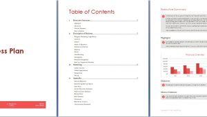 Microsoft Word Business Plan Template Existing Business Microsoft Word and Excel 10 Business Plan Templates