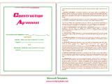 Microsoft Word Construction Contract Template Microsoft Word Templates Construction Agreement Template