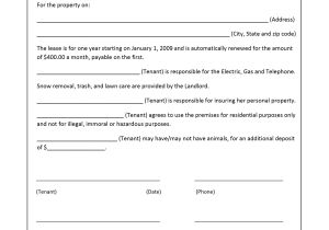 Microsoft Word Rental Contract Template Lease Agreement Template