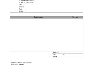 Micrsoft Word Templates Invoice Template Word 2010 Invoice Example