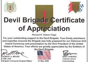 Military Certificate Templates Army Certificate Of Appreciation Example Mughals