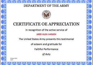 Military Certificate Templates Army Certificate Template Microsoft Word Templates