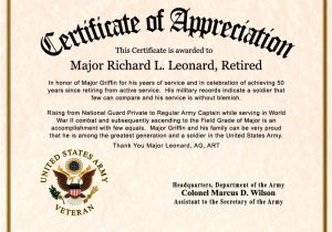 Military Certificate Templates Free Customizable Certificates Certificate Templates