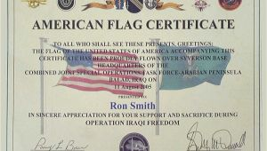 Military Flag Certificate Template Need Help Finding An Iraq Certificate topic
