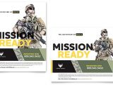 Military Flyer Template Military Marketing Materials for Recruiting events
