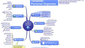 Mindmanager Templates Mindmanager Personal organiser Template Mind Map