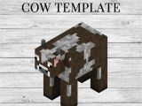 Minecraft Cow Template Cow Printable Minecraft Cow Papercraft Template