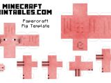 Minecraft Cow Template Free Printable Minecraft Pig Papercraft Template Print