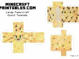 Minecraft Cut Out Templates Ocelot Printable Minecraft Ocelot Papercraft Template