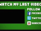 Minecraft Outro Template Movie Maker Template 18 2d Minecraft Outro after Effects Vegas