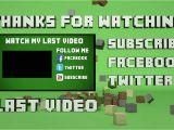 Minecraft Outro Template Movie Maker Template 29 Minecraft Outro Falling Blocks Cinema 4d
