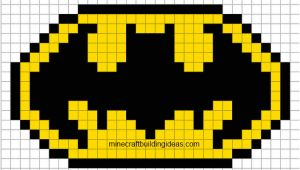 Minecraft Pixel Art Templates Batman Batman Logo
