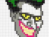 Minecraft Pixel Art Templates Batman Joker Head Batman Perler Pixel Art Perler Bead Action