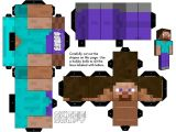 Minecraft Steve Paper Template 11 Powerful Paper Craft Minecraft Steve Build Your Own