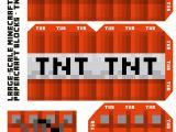 Minecraft Tnt Block Template Large Scale Minecraft Printable Tnt Block