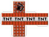 Minecraft Tnt Block Template Minecraft Papercraft