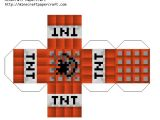 Minecraft Tnt Block Template Paper Craft New 721 Papercraft Minecraft Tnt