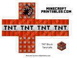 Minecraft Tnt Block Template Tnt Printable Minecraft Tnt Block Papercraft Template