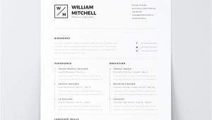 Minimalist Resume Template Word Best Free Resume Templates for Designers