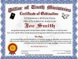 Minister License Certificate Template Best Photos Of ordination Papers Template Bishop