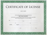 Minister License Certificate Template Certificate Of License to Preach