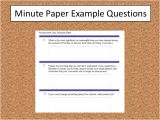 Minute Paper Template How to Improve Library Instruction assessment In Five Minutes