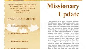 Missionary Newsletter Templates Fall Missionary Update Newsletter Template Newsletter