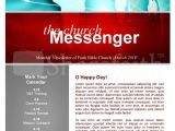 Missionary Newsletter Templates Missions Church Newsletter Template