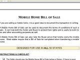 Mobile Home Sales Contract Template Mobile Home Bill Of Sale Youtube