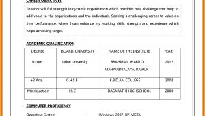 Model Job Application Resume 5 Cv Model for Job theorynpractice