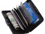 Modern Desktop Business Card Holder atm Card Holder Aluminum Metal Case Box Hard Case Holder Business Card Id Wallet Credit and Debit Card Holder 6 Card Holder Set Of 2 Black
