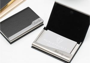 Modern Desktop Business Card Holder Personalised Leather Business Card Holder
