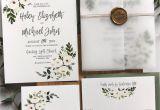 Modern Flower Card Wrap Die Greenery Floral Wedding Invitation Vellum Wrap with Gold