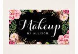 Modern Flower Card Wrap Die Makeup Artist Modern Script Girly Floral Wrapping Business