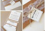 Modern Flower Card Wrap Die Vintage Pocketfoldkarte Mit Spitze Und Kraftpapier