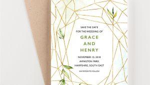 Modern Geometric Wedding Card Box Geometric Save the Date Greenery Save the Dates Geometric