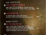 Modern Hotel Parel Menu Card Fabelle at the Chocolate Boutique Itc Grand Central Menu