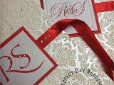 Modern Indian Wedding Card Designs Beautiful Red Indian Wedding Invitation with Flock Card and