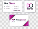 Modern Name Card Free Template Clean Business Card Template Concept Vector Purple Modern