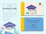 Modern Name Card Free Template Teacher Business Card or Name Card Template Simple Style Also