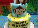 Monkey Birthday Cake Template Free Printable Little Monkey Birthday Invitation Template
