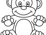 Monkey Body Template Outline Of A Monkey Clipart Best