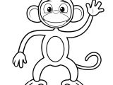 Monkey Body Template Printable Monkey Clipart Coloring Pages Cartoon Crafts