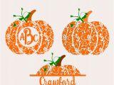 Monogram Pumpkin Templates Fall Pumpkin Svg Dxf Eps Circle Monogram Frame Cutting